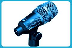 micrófonos tras