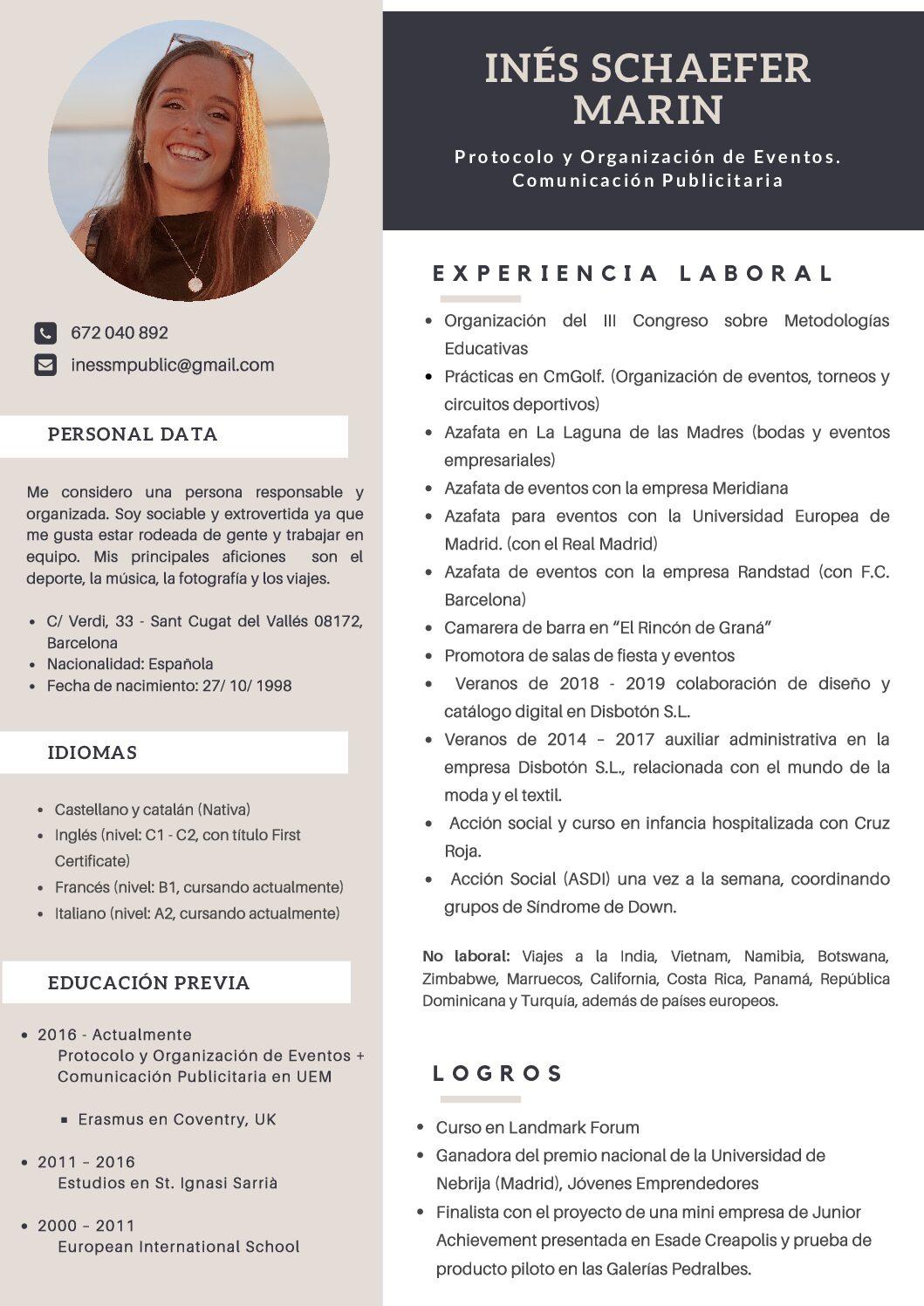 CV Inés Schaefer