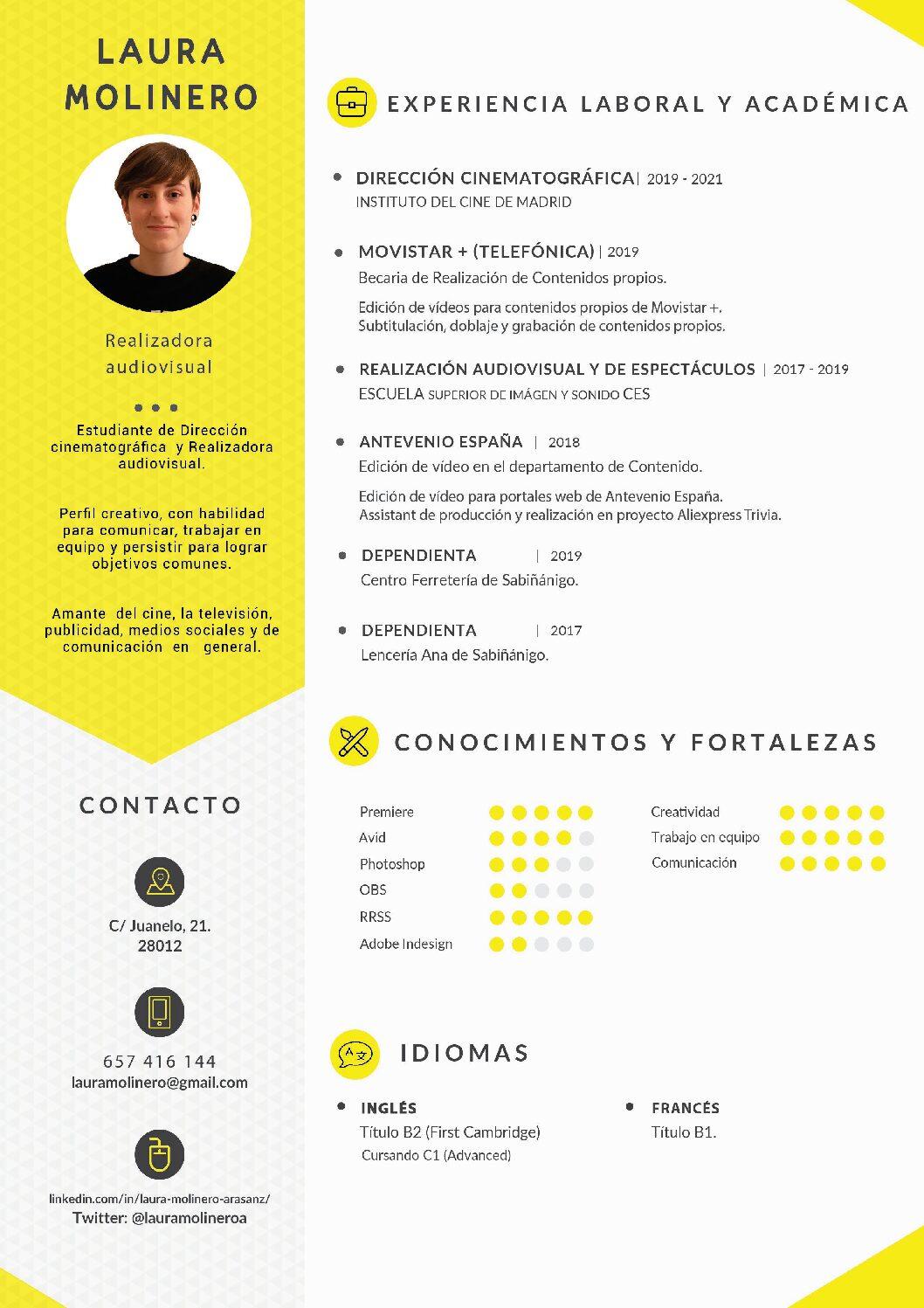 CV Laura Molinero - 2020